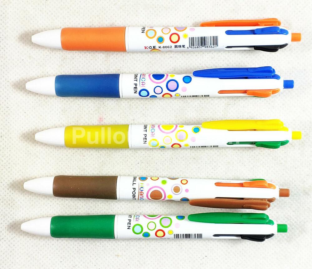 Custom Imprinted 4 in 1 combo Plastic Pens.