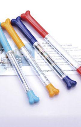 Bone shape pullout pen