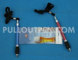 Lanyard pull out pen