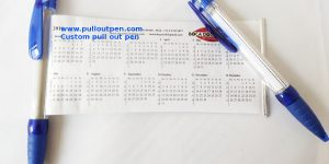 Custom Pullout calendar banner pens